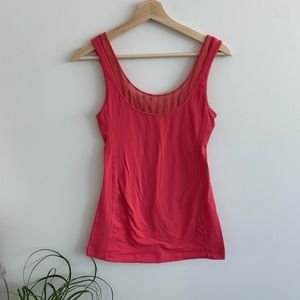 Lululemon - Pink with Mesh Tank Top
